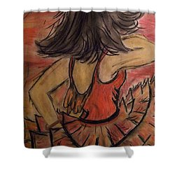 Spanish Dancer Shower Curtain by Lori  Lovetere