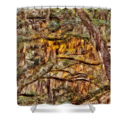 Spanish Moss And Sunset Shower Curtain