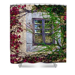 Shower Curtain featuring the photograph Spanish Window by Don Schwartz