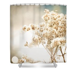 Sparkly Weeds Shower Curtain by Cheryl Baxter