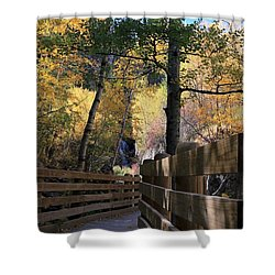 Spearfish Canyon Walkway Shower Curtain