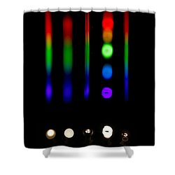 Spectra Of Energy Efficient Lights Shower Curtain by Ted Kinsman