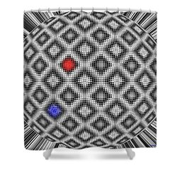 Shower Curtain featuring the digital art Sphere Number 10 by George Pedro