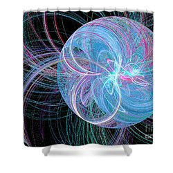 Shower Curtain featuring the digital art Spherical Symphony by Kim Sy Ok