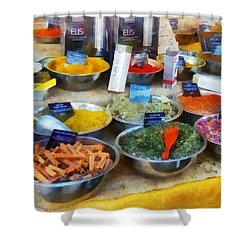 Spice Stand Shower Curtain by Susan Savad