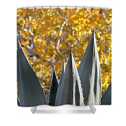 Spikes And Leaves Shower Curtain