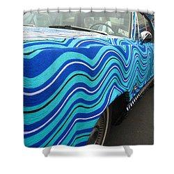 Spin A Yarn Car Shower Curtain by Kym Backland