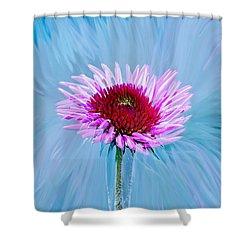 Spin Me Shower Curtain by Linda Sannuti