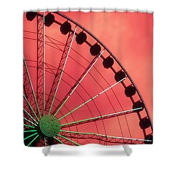 Spinning Wheel  Shower Curtain by Karen Wiles