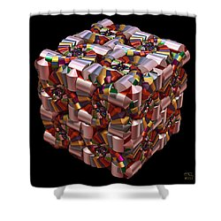 Shower Curtain featuring the digital art Spiral Box I by Manny Lorenzo