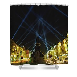 Spire Of Dublin, Oconnell Street Shower Curtain by The Irish Image Collection