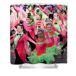 Spirit Of America Dance Team I Shower Curtain by Clarence Holmes