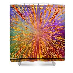 Splattered Shower Curtain by Tim Allen