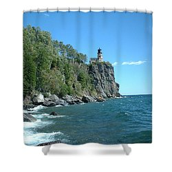 Shower Curtain featuring the photograph Split Rock by Bonfire Photography