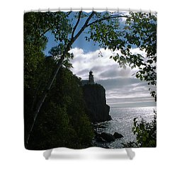 Shower Curtain featuring the photograph Split Rock II by Bonfire Photography