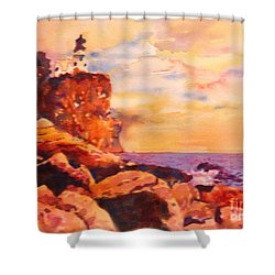 Split Rocks Golden Memories       Shower Curtain by Kathy Braud