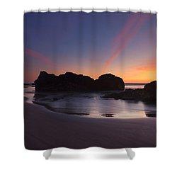 Splitting The Heavens Shower Curtain by Mike  Dawson