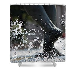 Shower Curtain featuring the photograph Sploosh by Stephanie Nuttall