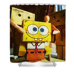 Spongebob Always Loves The Group Hugs Shower Curtain by Steve Taylor