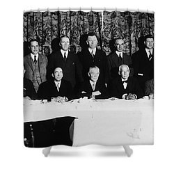 Sports Luncheon, 1930 Shower Curtain by Granger