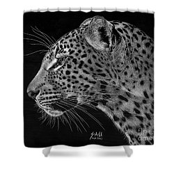 Spotted Solitude Shower Curtain