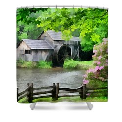 Spring At Mabry Mill Shower Curtain by Lynne Jenkins