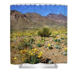 Spring Bloom Franklin Mountains Shower Curtain by Kurt Van Wagner