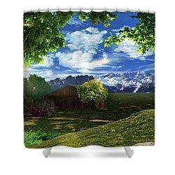 Spring Dawn Shower Curtain by Lourry Legarde
