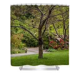 Spring Garden Landscape Shower Curtain by Mike Reid