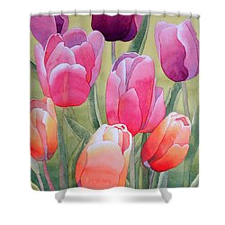 Shower Curtain featuring the painting Spring by Laurel Best