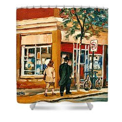 Spring Time In Montreal City Scene Shower Curtain by Carole Spandau