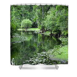 Springtime On The Lake Shower Curtain by Carolyn Marshall