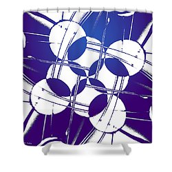Square Circles Shower Curtain