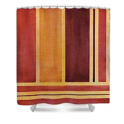 Square With Lines 2 Shower Curtain by Hakon Soreide
