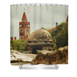 St. Augustine Castillo De San Marcos  Shower Curtain by Toni Hopper