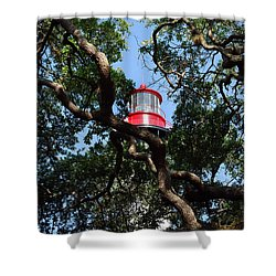 St Augustine Tree House Shower Curtain by Skip Willits