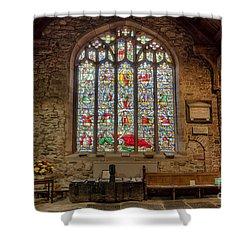 St Dyfnog Shower Curtain by Adrian Evans