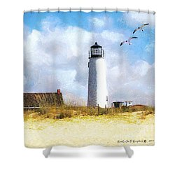 St. George Island Lighthouse Shower Curtain