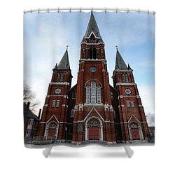 St. Josaphat Roman Catholic Church Detroit Michigan Shower Curtain by Gordon Dean II