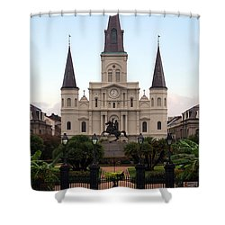 St Louis Cathedral On Jackson Square In The French Quarter New Orleans Shower Curtain