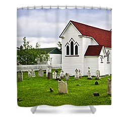 St. Luke's Church In Placentia Newfoundland Shower Curtain by Elena Elisseeva