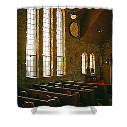 Shower Curtain featuring the photograph St Malo Church by David Pantuso