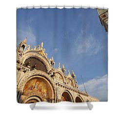 St. Markss Basilica And Campanile Off Shower Curtain by Trish Punch