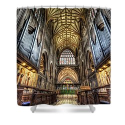 St Mary Shower Curtain by Adrian Evans