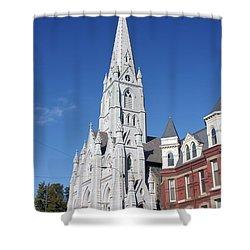 St. Mary's Basilica Shower Curtain by Kristin Elmquist