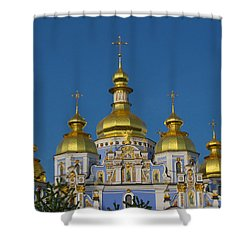 Shower Curtain featuring the photograph St. Michael's Cathedral by David Gleeson