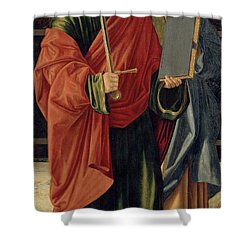 St. Paul And St. James The Elder Shower Curtain by Cristoforo Caselli