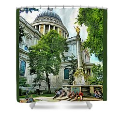St Paul Is Giving His Blessing Shower Curtain by Steve Taylor