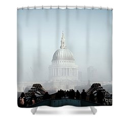 St Paul's Cathedral Shower Curtain by Pixel  Chimp
