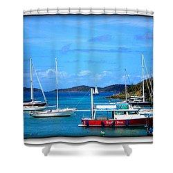 Shower Curtain featuring the photograph St-thomas Virgin Islands by Danielle  Parent
